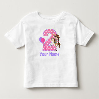 2nd Birthday Girl Cowgirl Personalised T Shirt