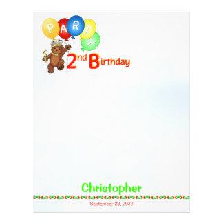 2nd Birthday Party Royal Bear Scrapbook  Paper 1 21.5 Cm X 28 Cm Flyer