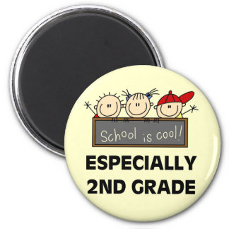 2nd Grade School is Cool Tshirts and Gifts Magnets