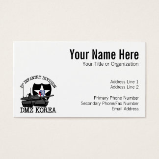 155 korea business cards and korea business card templates zazzle 2nd id dmz korea vet business card reheart Images