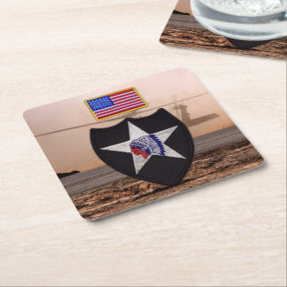 2nd infantry indianhead veterans vets coasters