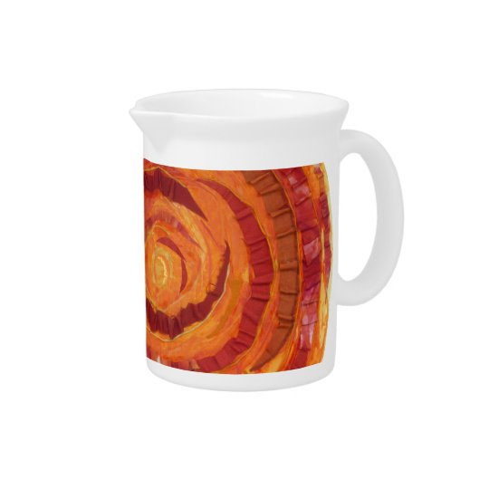 2nd-Sacral Chakra - Orange Paint-Fabric #2 Beverage Pitcher