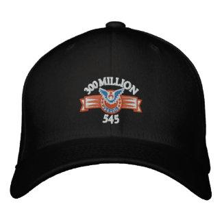 300 Million Versus 545 Black hat Baseball Cap