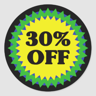 30% OFF RETAIL SALE Sticker