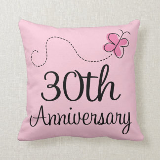 30th Anniversary Celebration Gift (butterfly) Throw Pillow