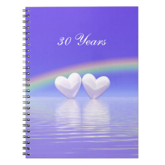 30th Anniversary Pearl Hearts Notebooks