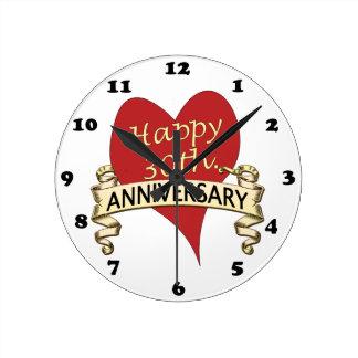 30th. Anniversary Round Clock