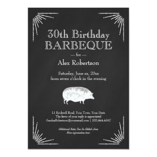 30th Birthday Barbeque - Meat Eater's Feast Card