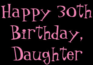 30th Birthday Daughter Black Pink Gift Wrap Wrapping Paper