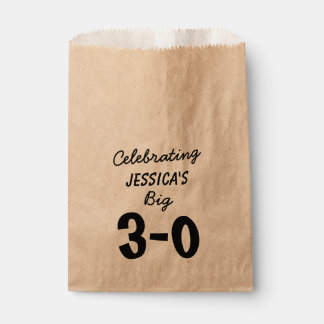 30th Birthday Personalized Party Supplies Favour Bags