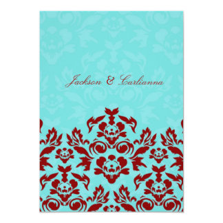 311 Aqua Blue Flame 5 x 7 Invite