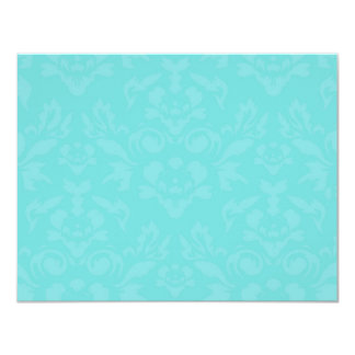 311-Aqua Blue Flame RSVP 11 Cm X 14 Cm Invitation Card