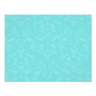311-Aqua Blue Flame RSVP Card