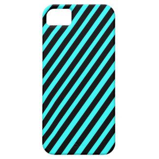 311 Black & Aqua Diagonal Stripes iPhone 5 Case