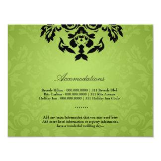311-Black Lime Flame Accommodation Card 11 Cm X 14 Cm Invitation Card