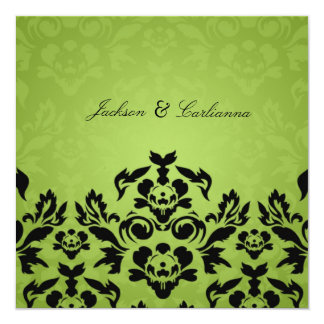 311-Black Lime Flame Square Invite