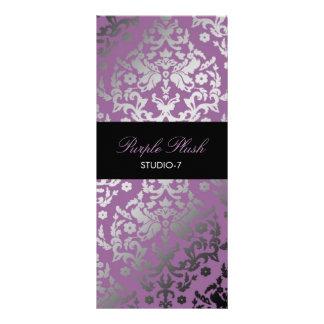 311 Dazzling Damask Purple Plush Customised Rack Card