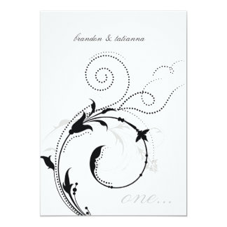 311-Dotted Desire |  Black and White Card