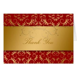 311 Golden Divine Cherry Red Note Card