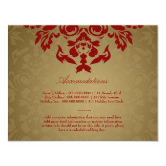 311-Golden Flame RSVP 11 Cm X 14 Cm Invitation Card