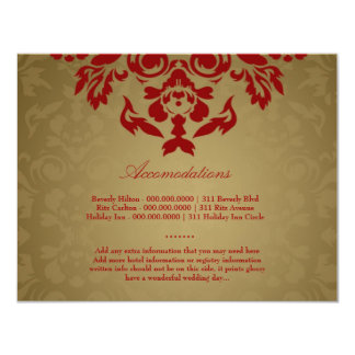 311-Golden Flame RSVP Personalized Invite