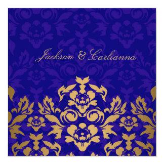 311 Golden Flame Square Royal Blue Gold Card