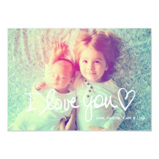 311 I Love You White Valentine Family 13 Cm X 18 Cm Invitation Card
