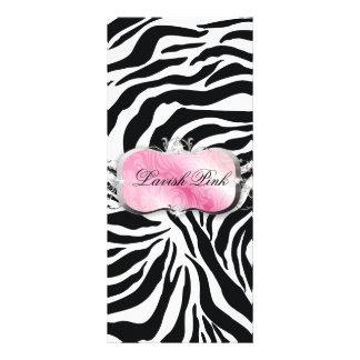 311 Lavish Pink Platter Zebra Price List Rack Card