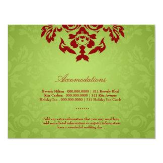 311-Lime Flame Accommodation Card 11 Cm X 14 Cm Invitation Card