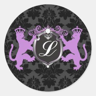 311 Luxe Lion Heraldry Purple Family Reunion Sticker