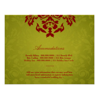 311-Metallic Gold Lime Flame Accommodation Card Invitation