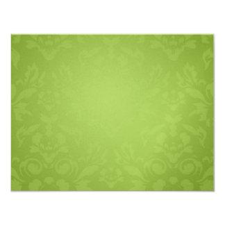 311-Metallic Gold Lime Flame RSVP 11 Cm X 14 Cm Invitation Card