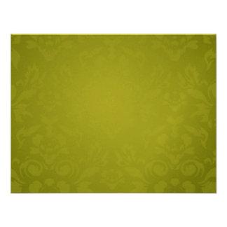 311-Metallic Gold Lime Flame RSVP Custom Invite