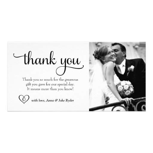 311 Ornate Thank You Photo Card with Heart