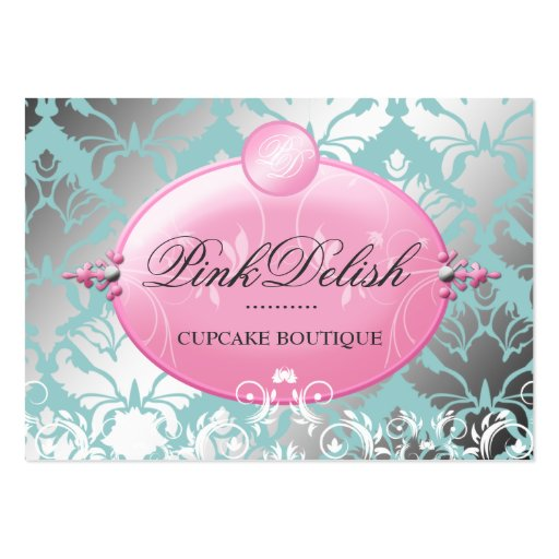 311 Pink Delish Version 2 Teal 3.5 x 2.5 Business Cards