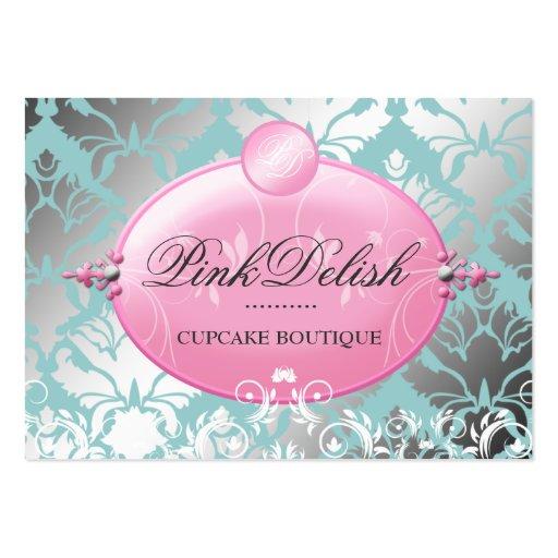 311 Pink Delish Version 2 Teal 3.5 x 2.5 Business Cards