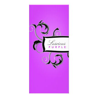 311 Roxy Purple and Black Full Colour Rack Card