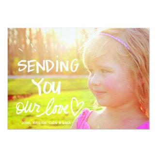 311 Sending You Love Valentine Family 13 Cm X 18 Cm Invitation Card