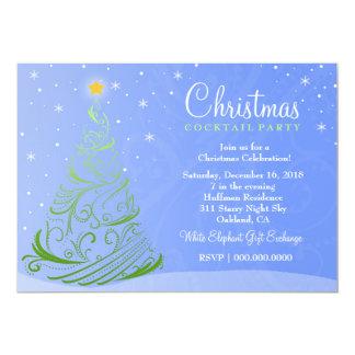 311-Starry Night Christmas Invite | Light Blue