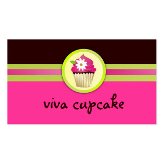 311 Viva Cupcake Chocolate Brown Pink Pack Of Standard Business Cards