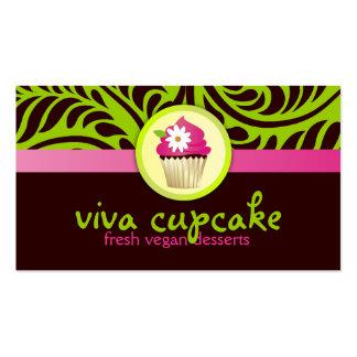 311 Viva Cupcake Green Business Card Templates