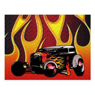 330 Hot Rod Color Variante 2 Postcard