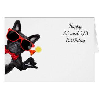 33 1/3 bowtie bowwow greeting card