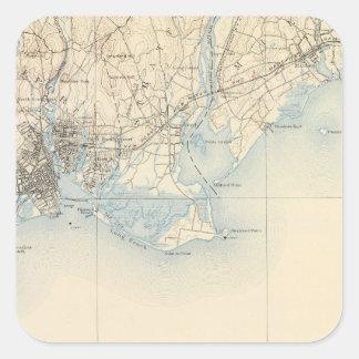 33 Bridgeport sheet Square Sticker