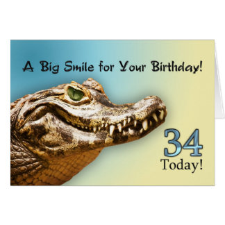 34th Birthday Card