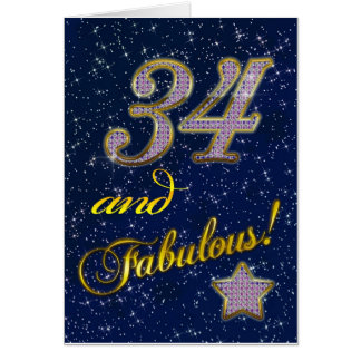 34th birthday for someone Fabulous Card