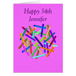 34th Birthday Gifts Card