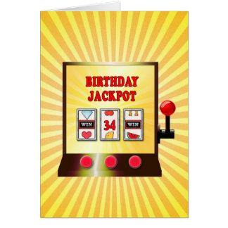 34th birthday slot machine card