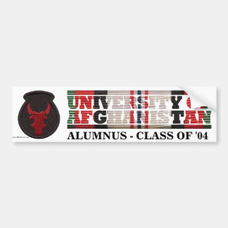 34th Infantry Division U of Afghanistan Sticker Bumper Stickers