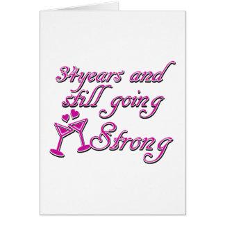 34th wedding anniversary card